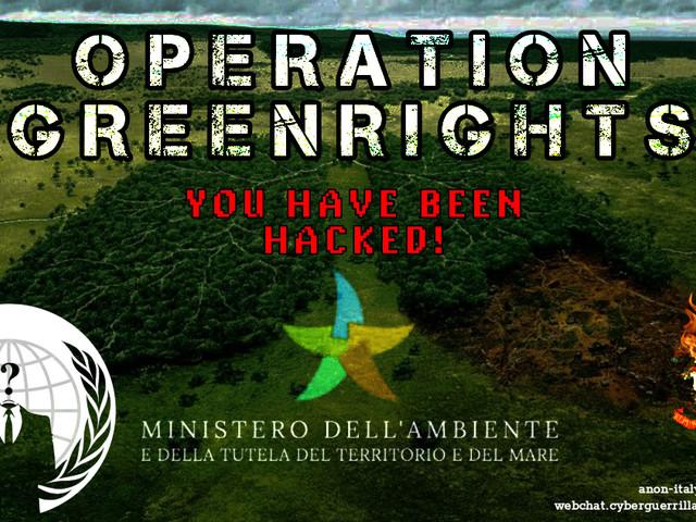 Anonymous contro il ministero dell'Ambiente: in rete dati sul Tap