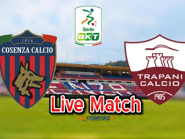 (Diretta match) Cosenza – Trapani 1-2 espulso Pagliarulo, ospiti in 10