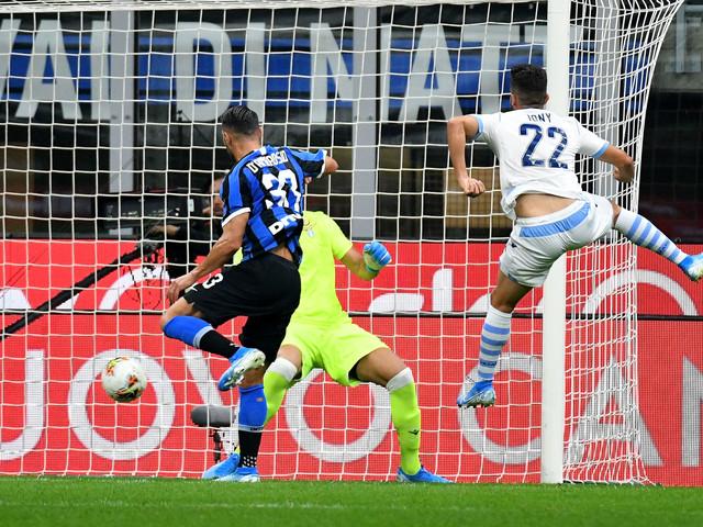 L'Inter non prende mai gol. Basta una testata per la quinta
