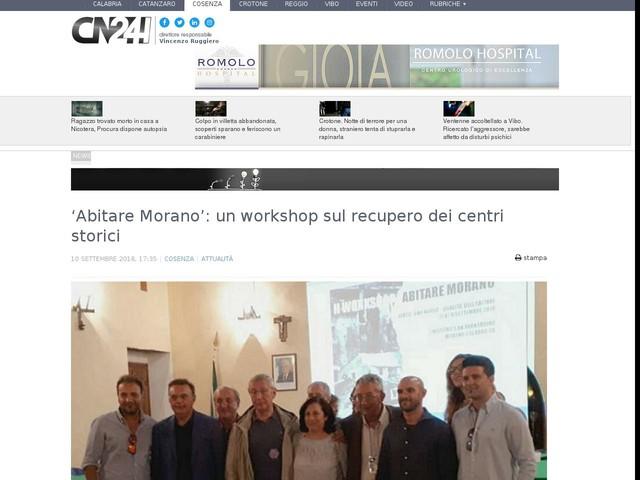 'Abitare Morano': un workshop sul recupero dei centri storici