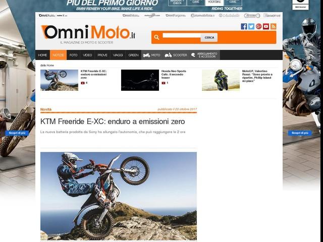 KTM Freeride E-XC: enduro a emissioni zero