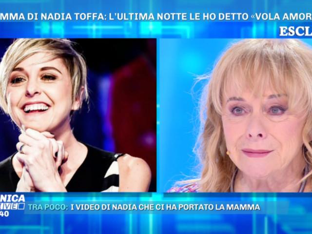 """""""Domenica Live"""", la mamma di Nadia Toffa : """"La malattia era un dono perché così era riuscita a capire tante cose"""""""