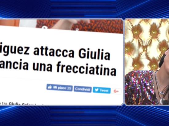 """GF Vip 3, Giulia Salemi risponde a Cecilia Rodriguez: """"Ci provo con tutti? Non è nella mia indole cercare la coppia mediatica"""" (video)"""