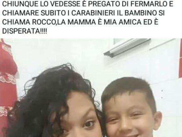 """Taranto: questo bambino """"è sparito"""" Appello"""