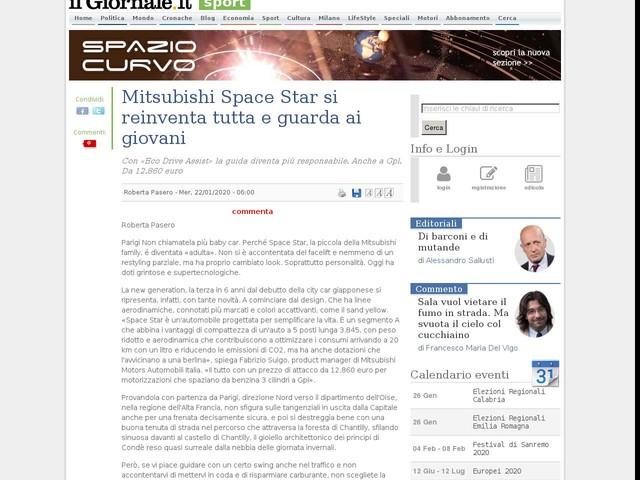 Mitsubishi Space Star si reinventa tutta e guarda ai giovani