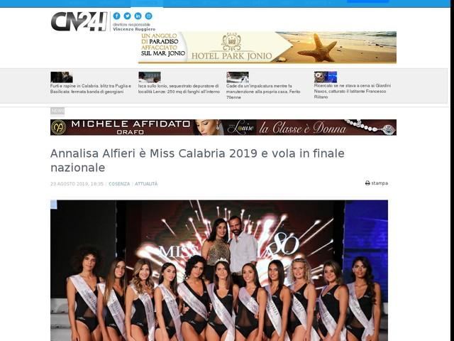 Annalisa Alfieri è Miss Calabria 2019 e vola in finale nazionale
