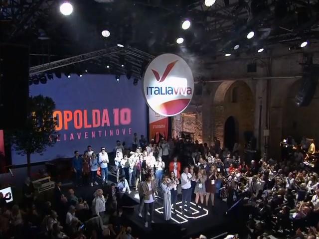 Renzi presenta il simbolo del partito Italia Viva