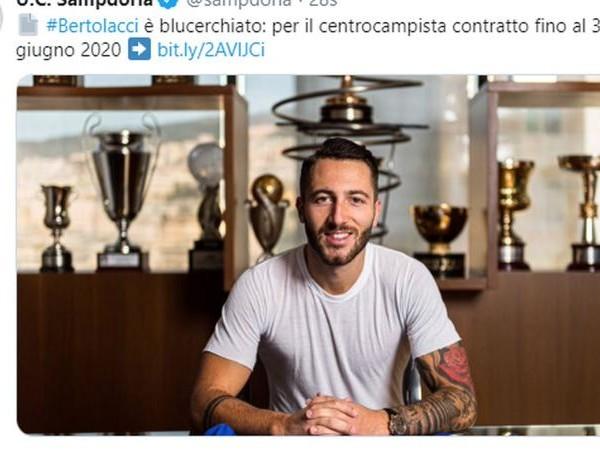 Sampdoria, Bertolacci ha scelto il numero di maglia