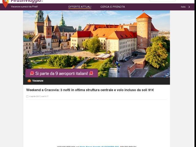 Weekend a Cracovia: 3 notti in ottima struttura centrale e volo incluso da soli 91€