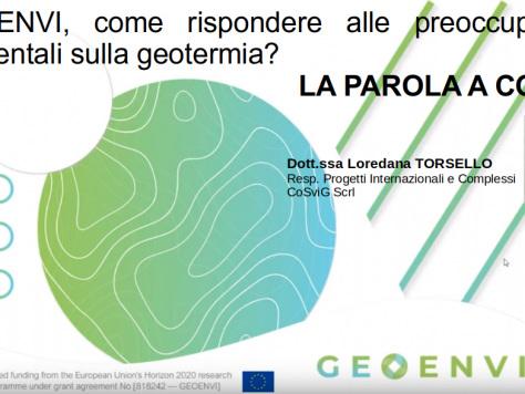 Geoenvi, come rispondere alle preoccupazioni ambientali sulla geotermia? La parola a CoSviG