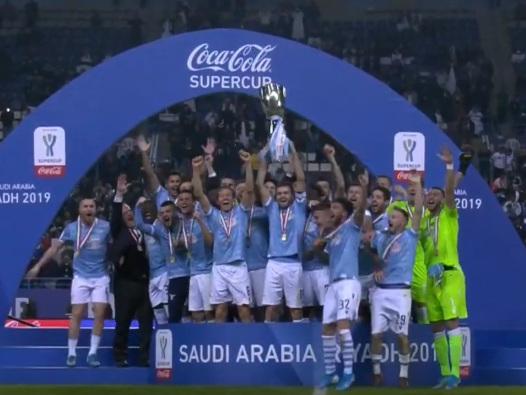 La Lazio batte ancora la Juve e conquista la Supercoppa