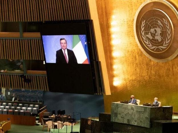 Draghi all'Assemblea generale Onu: Covid-19, clima, biodiversità, Afghanistan e migrazioni