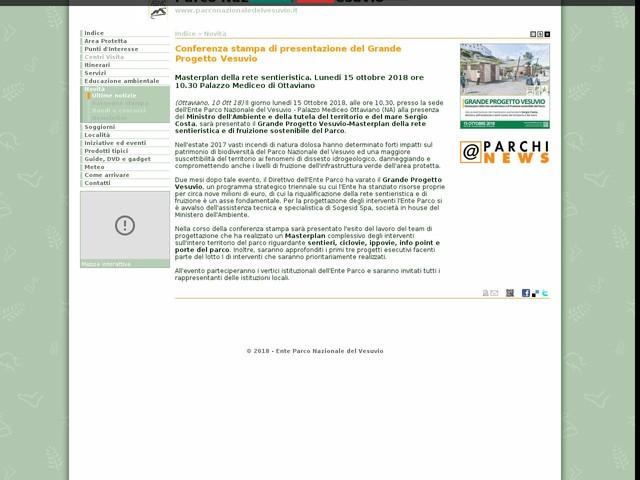 PN Vesuvio - Conferenza stampa di presentazione del Grande Progetto Vesuvio