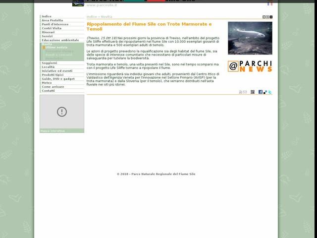 PR Fiume Sile - Ripopolamento del Fiume Sile con Trote Marmorate e Temoli