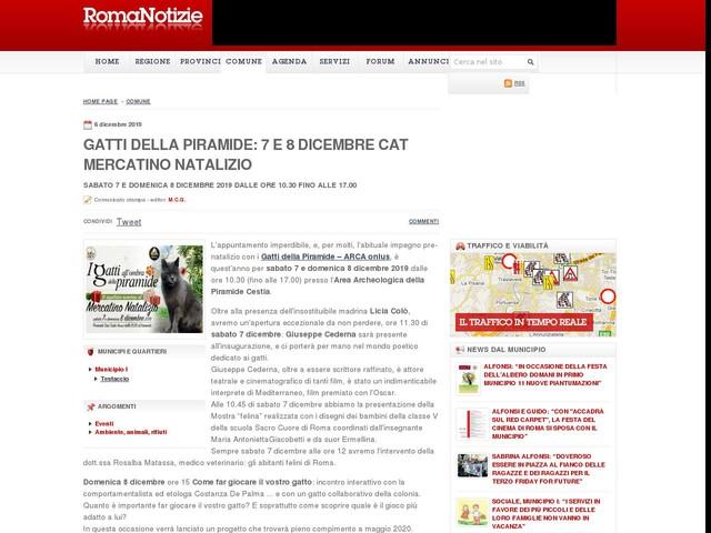GATTI DELLA PIRAMIDE: 7 E 8 DICEMBRE CAT MERCATINO NATALIZIO