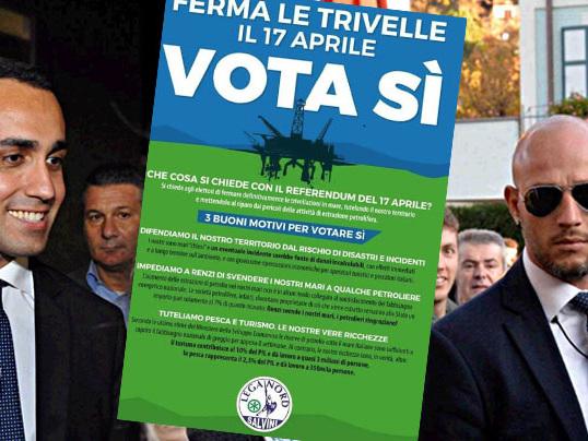"""Trivelle, Lega contro lo stop: """"Il Paese deve andare avanti"""". M5s: """"Stupiti. Anche il Carroccio era contro al referendum"""""""