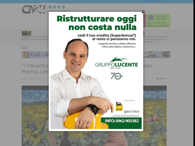 """""""I Vacantusi"""" di Lamezia Terme ospiti del prestigioso Premio Letterario Caccuri"""