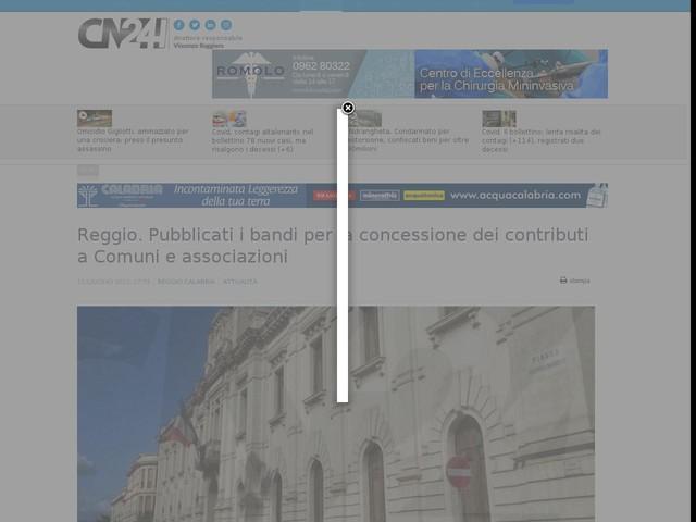 Reggio. Pubblicati i bandi per la concessione dei contributi a Comuni e associazioni