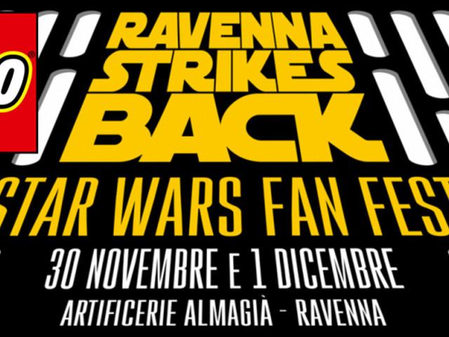 Le opere LEGO in mostra durante l'evento Ravenna Strikes Back