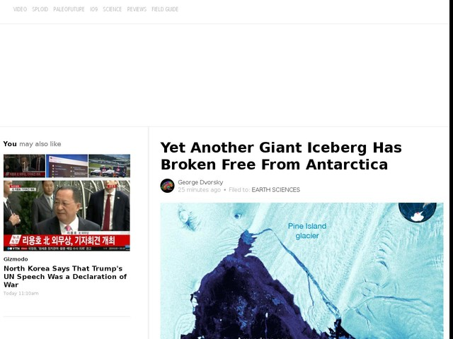 Yet Another Giant Iceberg Has Broken Free From Antarctica