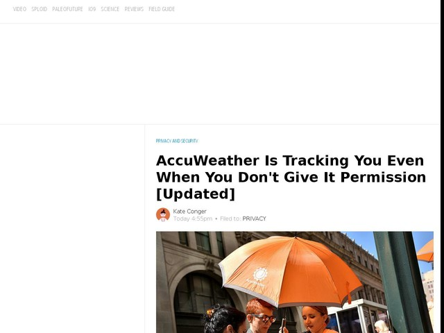 AccuWeather Is Tracking You Even When You Don't Give It Permission [Updated]