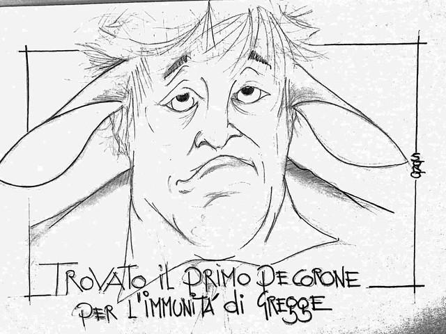 La vignetta del giorno - Boris Johnson dà il via all'immunità di gregge