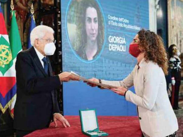 Giorgia Depaoli premiata da Mattarella Una vita spesa per aiutare gli altri