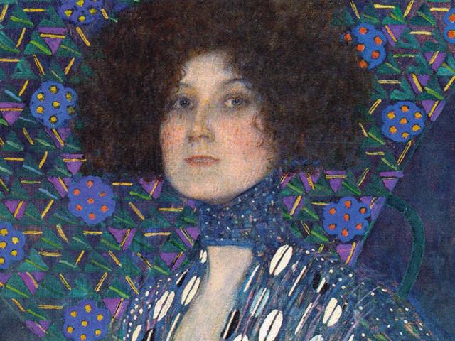 Emilie Flöge ritratta da Gustav Klimt, quadro del 1902