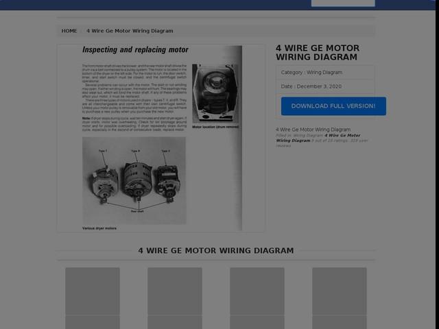 Wire Ge Motor Wiring Diagram