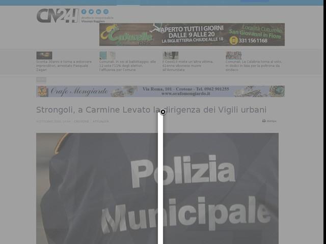 Strongoli, a Carmine Levato la dirigenza dei Vigili urbani