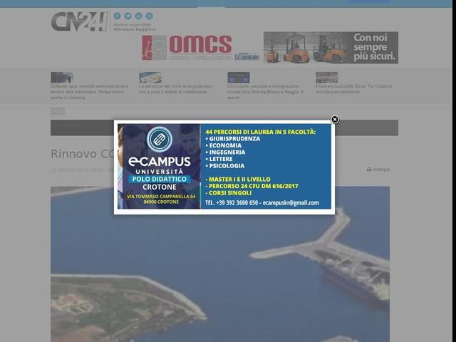 Rinnovo CCNL, il 23 maggio sciopero dei portuali