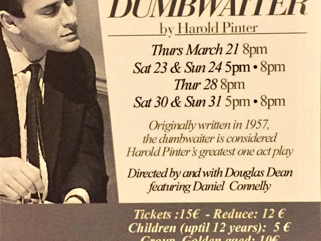 @TeatroArciliuto – The English Theatre of Romedal 21 al 31 marzo 2019: The Dumb Waiter by Harold Pinter