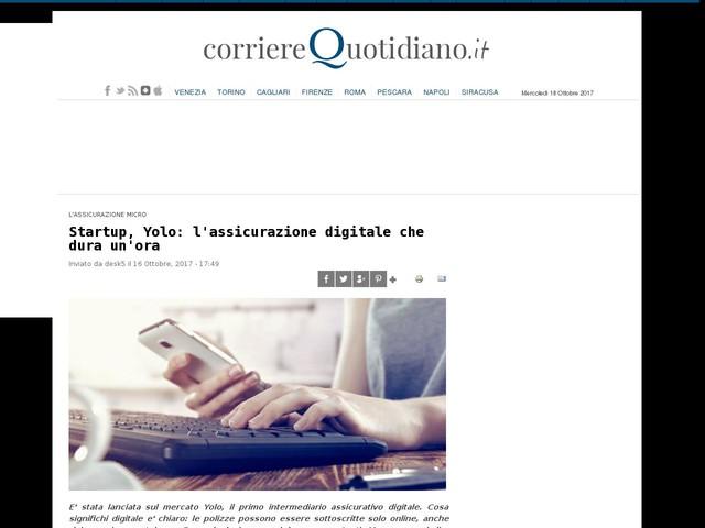Startup, Yolo: l'assicurazione digitale che dura un'ora