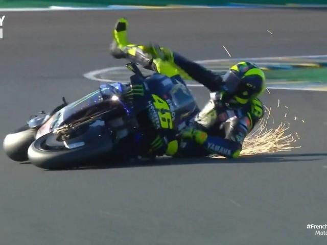 MotoGP Francia, prove libere 3: i tempi. Caduta per Valentino Rossi