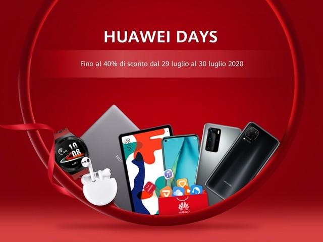 Al via gli Huawei Days, 48 ore di sconti fino al 40% su laptop, smartphone e tanto altro