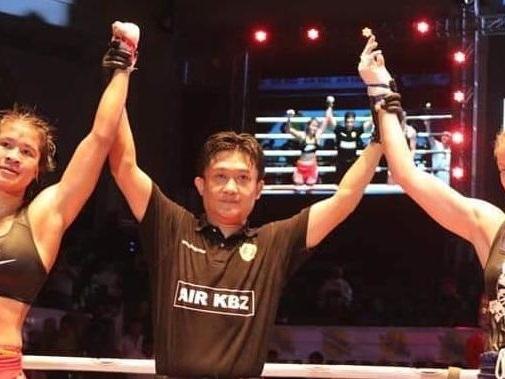 La goriziana Miriam Sabot la prima fighter italiana sul ring della boxe birmana