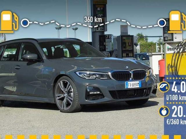 BMW Serie 3 Touring diesel, la prova dei consumi reali