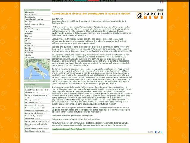 Federparchi - Conoscenza e ricerca per proteggere le specie a rischio