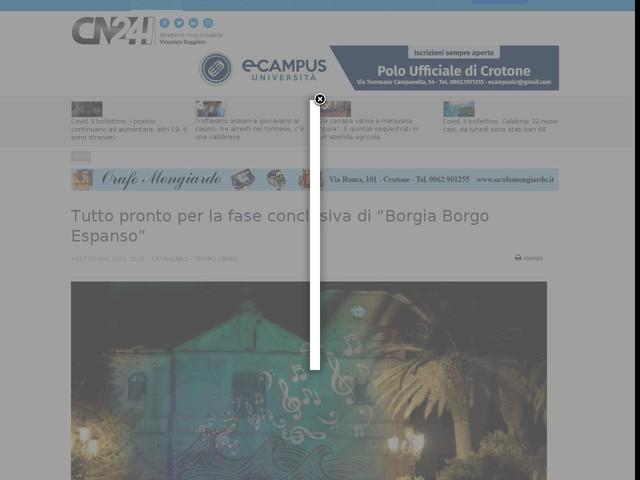 """Tutto pronto per la fase conclusiva di """"Borgia Borgo Espanso"""""""
