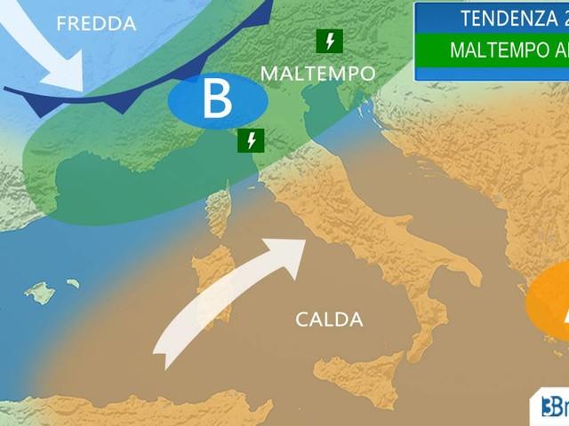 METEO Italia - MALTEMPO il 26-28 Aprile con piogge, temporali e NEVE [MAPPE]