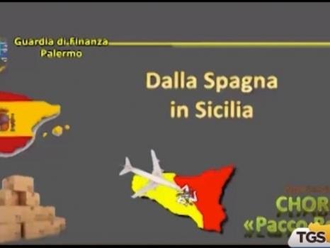 Droga dentro pacchi regalo fra la Spagna e la Sicilia