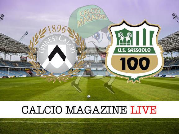 Udinese – Sassuolo: cronaca diretta live, risultato in tempo reale