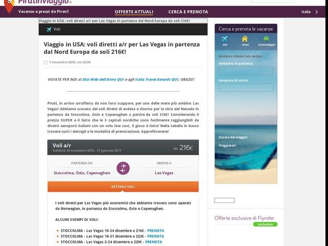 Viaggio in USA: voli diretti a/r per Las Vegas in partenza dal Nord Europa da soli 216€!