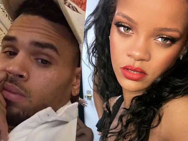 Chris Brown ci prova con Rihanna e le scrive in pubblico: i fan lo massacrano
