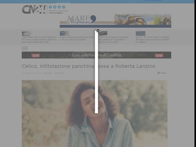 Celico, intitolazione panchina rossa a Roberta Lanzino