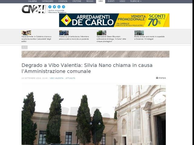 Degrado a Vibo Valentia  Silvia Nano chiama in causa l Amministrazione  comunale 742e463ead