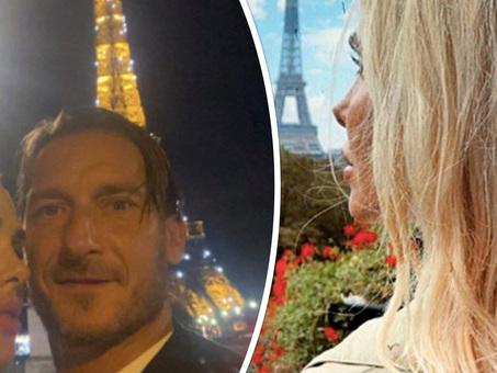 Francesco Totti e Ilary Blasi, la fuga romantica a Parigi divide i fan: «Non ce la fate a stare a casa»