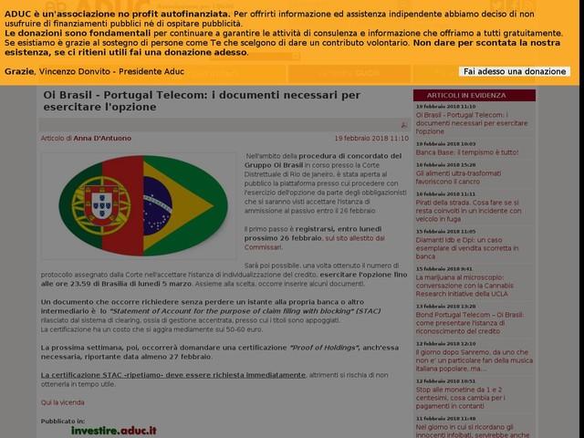 Oi Brasil - Portugal Telecom: i documenti necessari per esercitare l'opzione