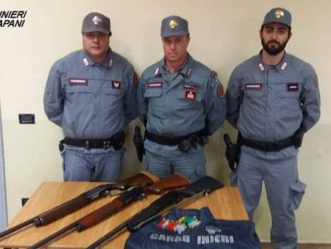 Sorpresi a cacciare con fucili senza autorizzazioni, tre denunciati a Pantelleria