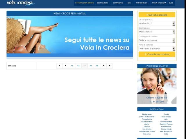 Crociere: vacanze sicure per l'84% dei crocieristi italiani - 06/03/2012